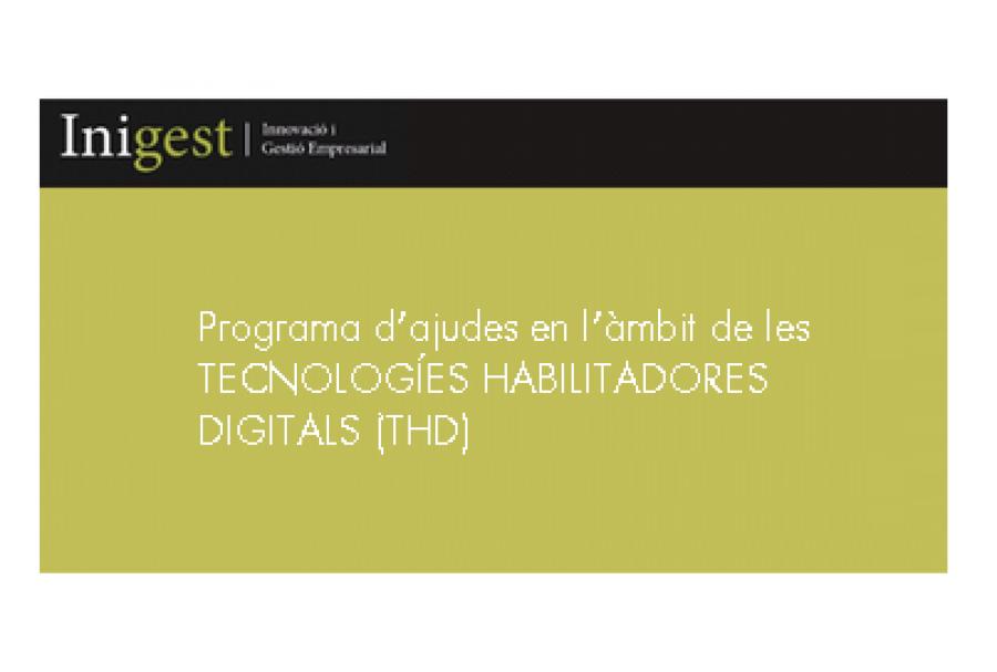 PROGRAMA D'AJUDES EN L'ÀMBIT DE LES TECNOLOGÍES HABILITADORES DIGITALS (THD)