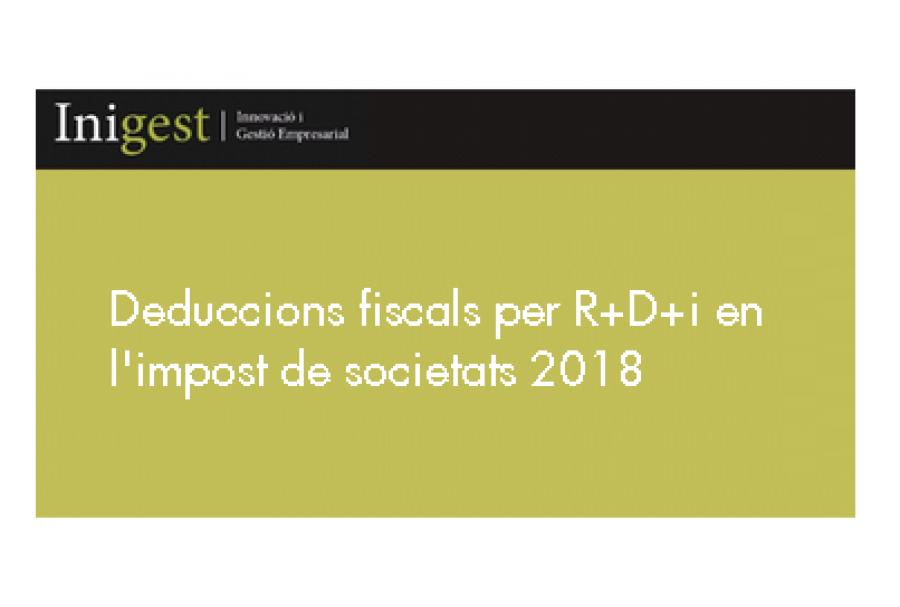 Deduccions per R+D+i a l'Impost de Societats
