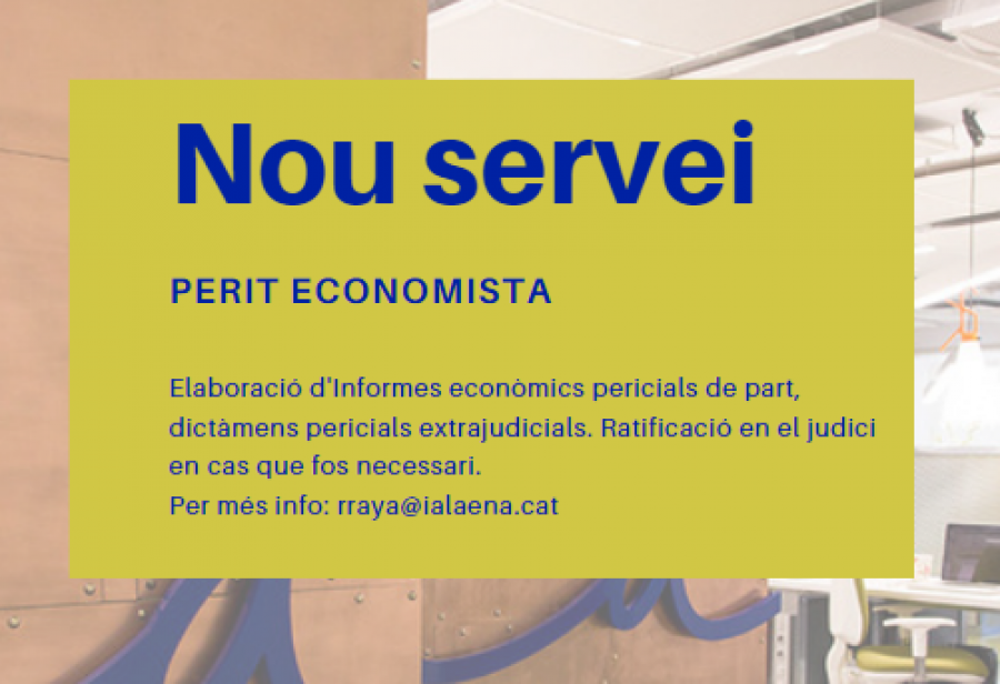 Nou servei Perit Economista